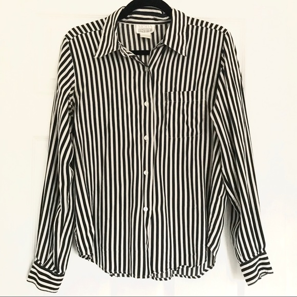 5b0ca6c5f95cff Vintage Moda Int'l Striped Button Down Blouse. M_5b60f3471b16dbf060df1bb1